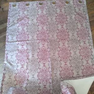 Polyester curtains with backing